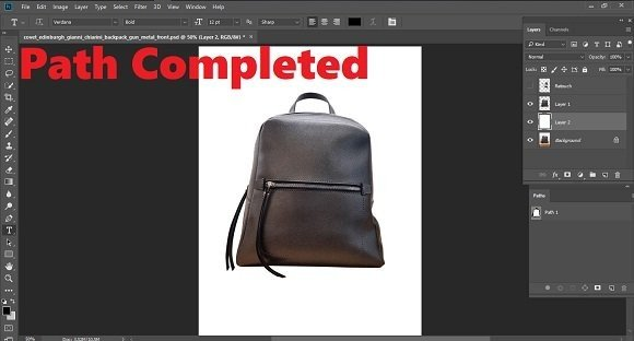 Product Photo Retouching Path Completed Image